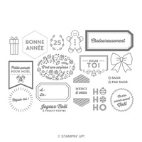 Étiquettes des fêtes  Photopolymer Stamp Set (French)