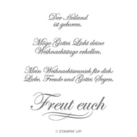 Gottes Licht Clear-Mount Stamp Set (German)
