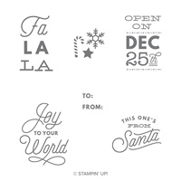 Sincerely Santa Wood-Mount Stamp Set