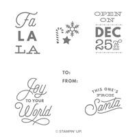 Cordialement Santa Set de timbres sur bois
