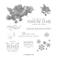Binnen is het warm Clear-Mount Stamp Set (Dutch)