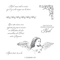 Jeu de timbres transparents Anges sur la terre (Français)