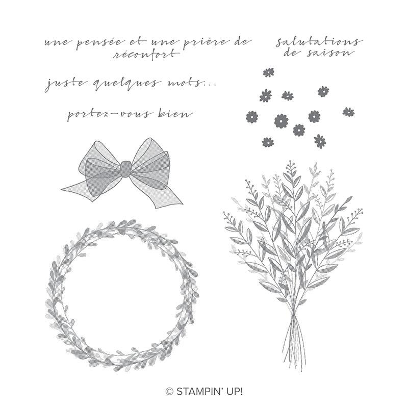 Jeu de timbres Une pensée Clear-Mount (Français)