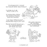 Heiter Bis Weihnachtlich Clear-Mount Stamp Set (German)