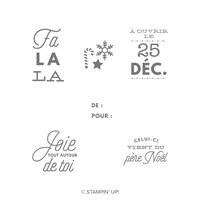 Noëllement vôtre Clear-Mount Stamp Set (French)