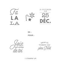 Jeu de timbres transparents Noëllement vôtre (français)