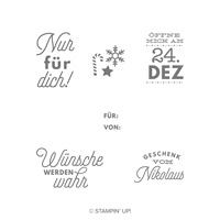 Aller Geschenke Anhang Clear-Mount Stamp Set (German)