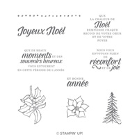 Vœux classiques Clear-Mount Stamp Set (French)