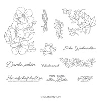 Farbenfroh Durchs Jahr Clear-Mount Stamp Set (German)