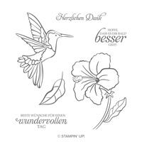 Wundervoller Kolibri Cling Stamp Set (German)