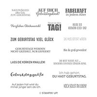 Geburtstagsmix Cling Stamp Set (German)