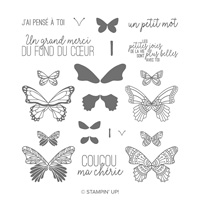 Gala De Papillons Photopolymer Stamp Set (French)