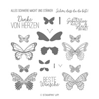 Schmetterlingsglück Photopolymer Stamp Set (German)