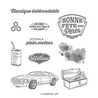 À Plein Moteur Cling Stamp Set (French)