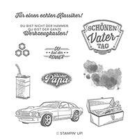 Werkstattworte Cling Stamp Set (German)