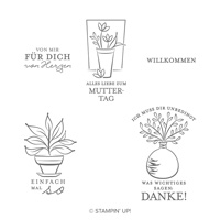 Einfach So Cling Stamp Set (German)