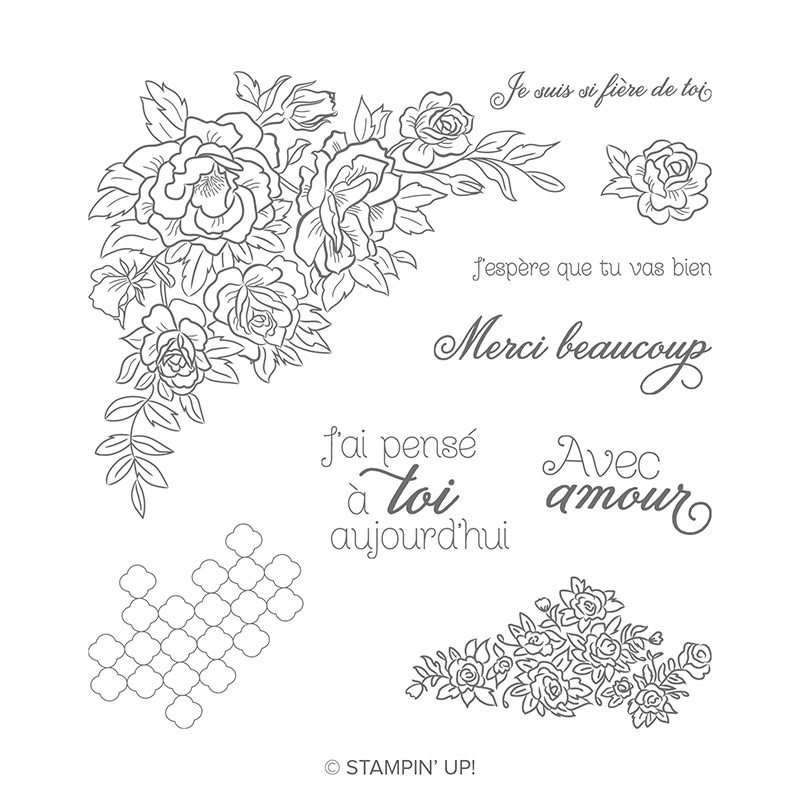 Roses Grimpantes Cling Stamp Set (French)