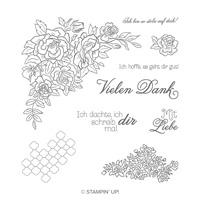 Kletterrosen Cling Stamp Set (German)