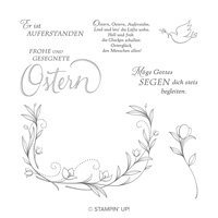 Gesegnete Ostern Cling Stamp Set (German)