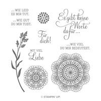 Mit Liebe Zum Detail Cling Stamp Set (German)