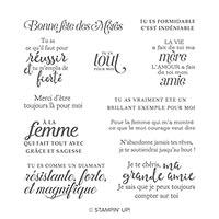 Forte Et Magnifique Cling Stamp Set (French)