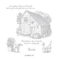 GARDEN SHED CLING STAMP SET