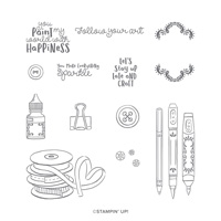 IT STARTS WITH ART CLING STAMP SET