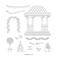 PRETTY PAVILION CLING STAMP SET