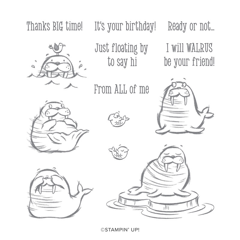 WE'LL WALRUS BE FRIENDS CLING STAMP SET