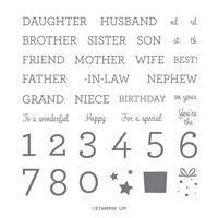 FAMILY PARTY PHOTOPOLYMER STAMP SET