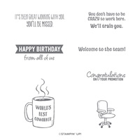 WELCOME TO THE TEAM CLING STAMP SET