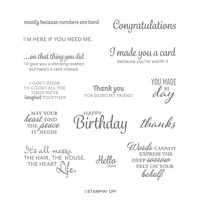 HERE'S A CARD CLING STAMP SET