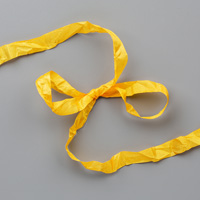 CRUSHED CURRY 3/8 (1 CM) CRINKLED SEAM BINDING RIBBON