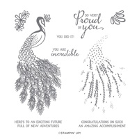 ROYAL PEACOCK PHOTOPOLYMER STAMP SET