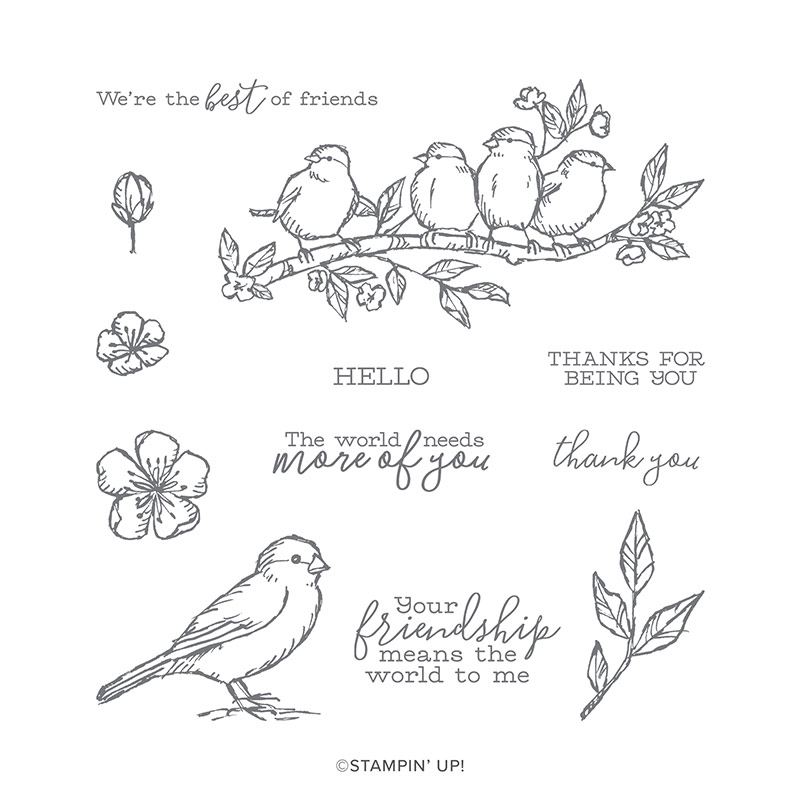 FREE AS A BIRD CLING STAMP SET