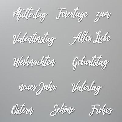 WUNSCHWORTE DIES (GERMAN)
