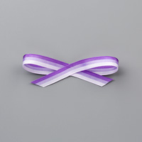 Purple 3/8 (1 CM) TRICOLOR RIBBON