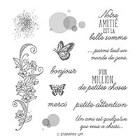 Abondance De Beauté Cling Stamp Set (French)