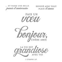 La Vie Est Grandiose Cling Stamp Set (French)