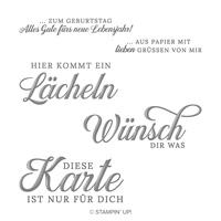 Lächeln Aus Papier Cling Stamp Set (German)