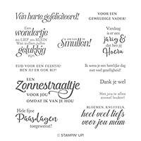 Voorjaarswensen Cling Stamp Set (Dutch)