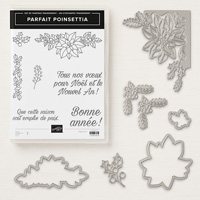 Parfait poinsettia Clear-Mount Bundle (French)