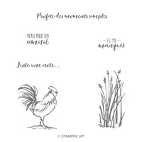 Coq En Pâte Cling Stamp Set (French)