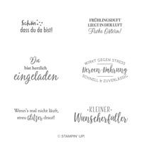 Kleiner Wunscherfüller Cling Stamp Set (German)