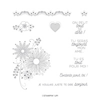 UN PEU DE DENTELLE CLING STAMP SET (FRENCH)