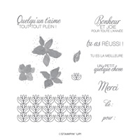 COLIS FLEURIS CLING STAMP SET (FRENCH)