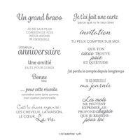 VOICI UNE CARTE CLING STAMP SET (FRENCH)