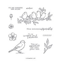 LIBRE COMME UN OISEAU CLING STAMP SET (FRENCH)