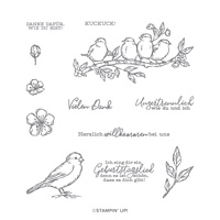 FREI WIE EIN VOGEL CLING STAMP SET (GERMAN)