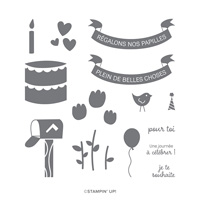 RÉGALONS NOS PAPILLES PHOTOPOLYMER STAMP SET (FRENCH)